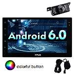 Eincar coche Bluetooth Autoradio Android 6.0 Marshallow Quad Core HD 1080P Doble Din de 7 pulgadas GPS UNIVERSAL FM Radio AM RDS EQ Visualizaci¨®n AUX 3G / 4G WIFI OBD2 de control de direcci¨®n de la pantalla t¨¢ctil de la rueda CAM micr¨®fono externo incluido!