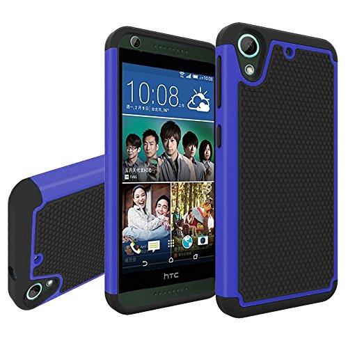 HTC Desire 626 Funda, Pasonomi® [2 en 1] silicona híbrida Cáscara de Cubierta Protectora de Doble Capa Funda Caso para HTC Desire 626 / Desire 626s (Azul)