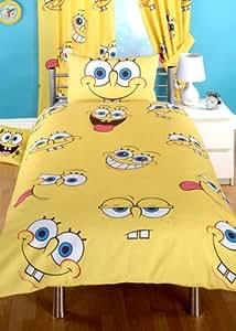 CharacterWorld Spongebob Expressions Rotary Duvet Set, Single