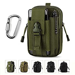 Unigear Taktische Hüfttaschen Herren, mit Aluminiumkarabiner, Gürteltasche Bauchtasche Handytasche Molle Tasche…