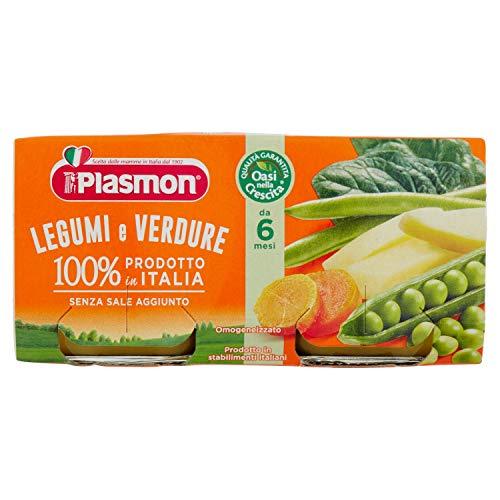 Plasmon Alimento per lInfanzia con Legumi e Verdure Confezione da 2 x 80 gr