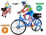 #6: TamBoora ™ Ben-Ten Movable Cycle Toy for Kids with music light and Cyclist