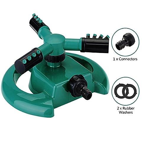 Arroseur oscillant Rotatif À 360 Degrés Irrigation Par Arrosage Automatique Jardinage DIY Pour Pelouse Jardin Serre Rotating Sprinkler
