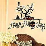 SET-SAIL Halloween Eule Fledermaus Wall Decal Home Aufkleber PVC Wandbild, Vinyl, Papier, Haus Dekor Tapete Wohnzimmer Schlafzimmer Kunst Bild (A)