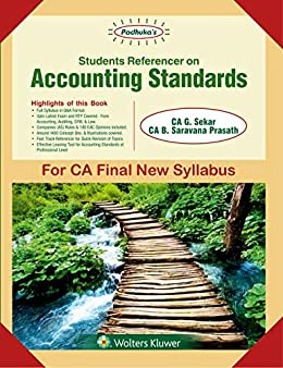 PADHUKA'S STUDENTS REFERENCER ON ACCOUNTING STANDARD by [Sekar, G]