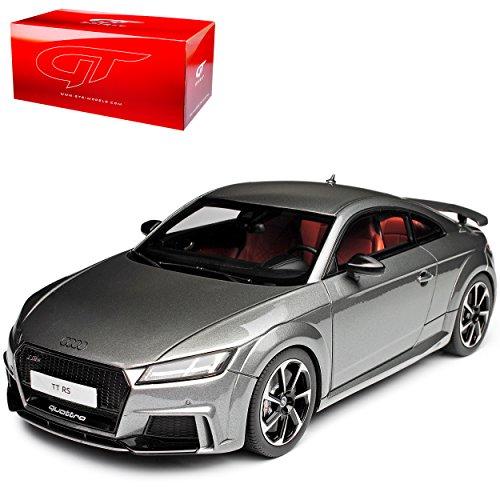 alles-meine.de GmbH Audi TT RS FV 8S Coupe Daytona Grau Ab 2014 Nr 152 1/18 GT Spirit Modell Auto mit individiuellem Wunschkennzeichen