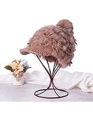 Qiaoba- Mlle chaude hiver tricot chapeau de lacet