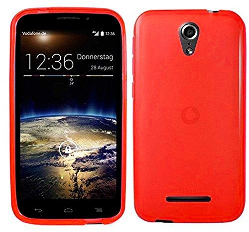 TBOC® Rot Gel TPU Hülle für Vodafone Smart 4 Power Ultradünn Flexibel Silikonhülle