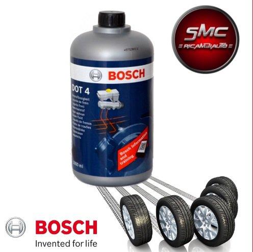ricambi auto smc DOT 4 Bosch Olio Liquido Freni 1987479107 DOT 4-1Litro