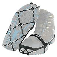 Yaktrax Pro portera immediatamente fiducia e sicurezza su neve e ghiaccio. Camminate o correte siccome avete l'abitudine di farlo sulle superfici asciutte. Yaktrax ha un design a spirale unico, brevettato, senza punte, che non ha pari sul mer...