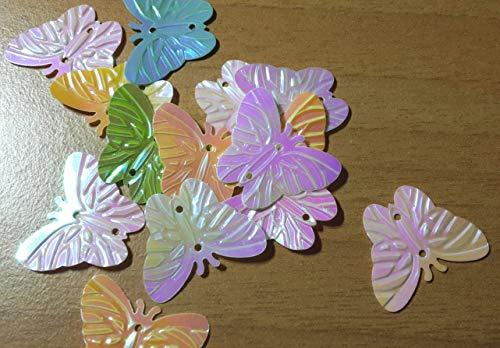 Lentejuelas Hexagonal forma Mariposa mariposas reflejos
