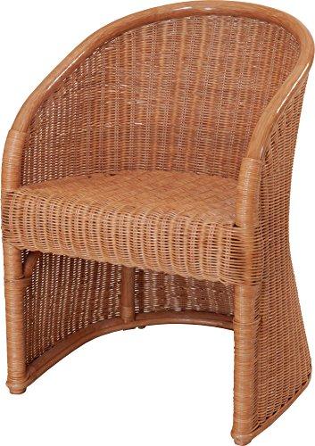 Club-Sessel aus Natur Rattan, Sessel in der Farbe Terracotta - Versandkostenfrei in DE