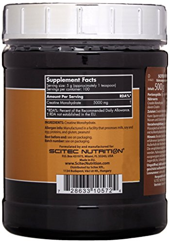 Scitec Nutrition Creatin Monohydrate, 1er Pack (1 x 500 g) - 4
