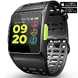 Fitness Tracker GPS con reloj para correr con monitor de ritmo cardíaco, análisis HRV, podómetro, sueño, rastreador de pasos con modos multideportivos, reloj inteligente a prueba de agua IP68