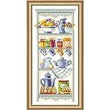 Vervaco PN-0021710 - Kit de Punto de Cruz para Cuadro (diseño romántico de estantería de Cocina)