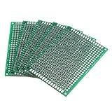 SODIAL(R) 5pcs lateral doble 5x7cm de circuito impreso PCB Prototipos Vero Junta de Gaza Track