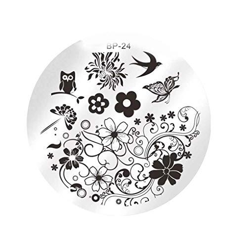 Junecat Nail Art Flower Sello Placa Que Estampa Sistema