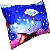 Fusine™ Top Quality Premium Pillow - Organic Cotton - Soft, Comfy, Colorful, Naturally Hypoallergenic - Cartoon Kids For Boys And Girls 30x45cm (Tom & Jerry 1)