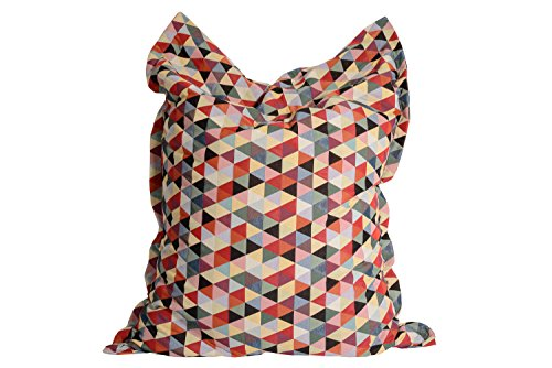 Vintage Sitzsack Gobelin - Design 'Polygon'