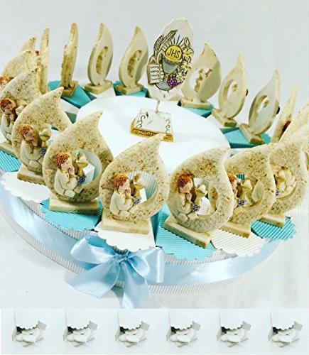 Bomboniere comunione battesimo cresima con torta bomboniera spedizione gratis kkk (torta 20 goccie bambino)