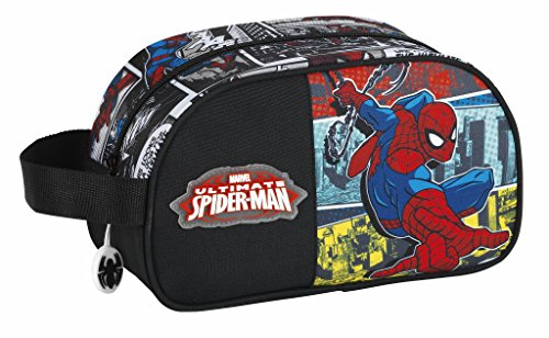 Safta Spiderman Neceser, 26 cm, Negro