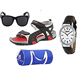 Lotto Sandal Combo of Watch,Sunglass & Globalite Duffle Bag UK/IN-9