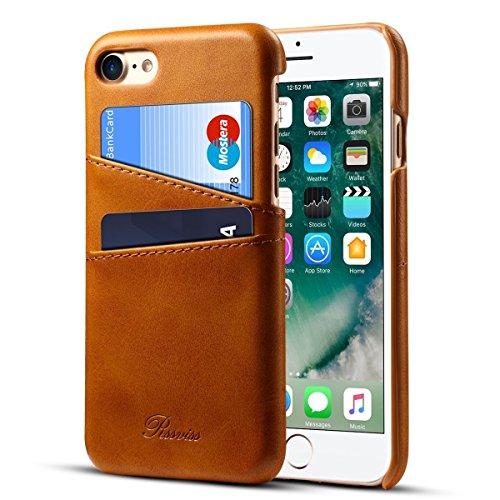"""Rssviss Funda iPhone 6 plus/6s plus - Cáscara de Piel iPhone 6 plus/6s plus [2 ranuras para tarjetas y dinero en la parte posterior] Estuche para Apple iPhone 6 plus/6s plus 5.5"""" amarillo"""