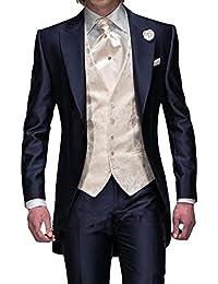 GEORGE Herren trajes de etiqueta smoking del juego de la chaqueta de los trajes de 3 piezas chaqueta de traje conjunto, pantalones de vestir, chaleco 134