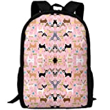 best& Vintage Chihuahua Dogs Easter College Laptop Backpack Student School Bookbag Rucksack Travel Daypack