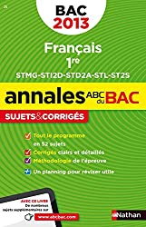 ANNALES BAC 2013 FRANCAIS 1ERE