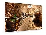 weewado Vieille Cave à vin - 60x40 cm - Impression sur Toile - Art Mural - Tableau,...