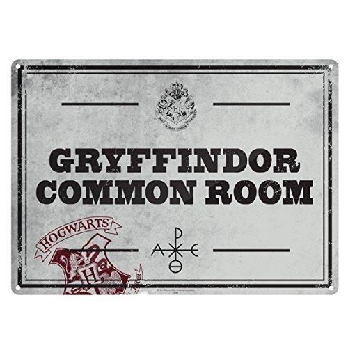 Harry Potter ~ Petit Plaque Murale/Enseigne (Métal/Boite) ~ GRYFFINDOR COMMUN CHAMBRE