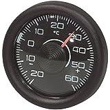 Thermomètre intérieur rond, noir