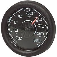 Autothermometer analog Legierung Innen Thermometer Schwarz