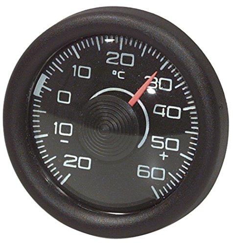 Thermometer innen rund, schwarz