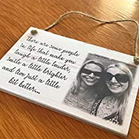 PERSONALISED PLAQUE SIGN PHOTO QUOTE GIFT WOODEN SIGN BEST FRIEND SPECIAL UNIQUE choice of size