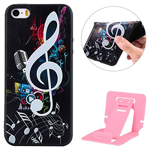 iphone 8 Silicone Cover, Custodia per iphone 7 Morbido, iphone 8 Nero Cover, Ekakashop Clear 3d Sollievo Colorato Pattern Painting Animal Gel Silicone Gomma Soft TPU Ragazza Women Black Cover Shockpro Nota