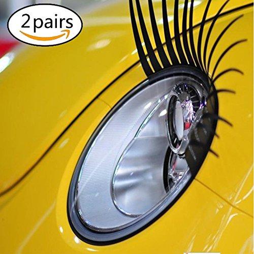 Auto Aufkleber 3d Wimpern Aufkleber 2 pcs schwarze Wimpern für Auto Autoaufkleber ein Paar Autotattoo Auto-Wimpern der Träger-Auto-Styling-Scheinwerfer dekorativen Aufkleber Car Styling