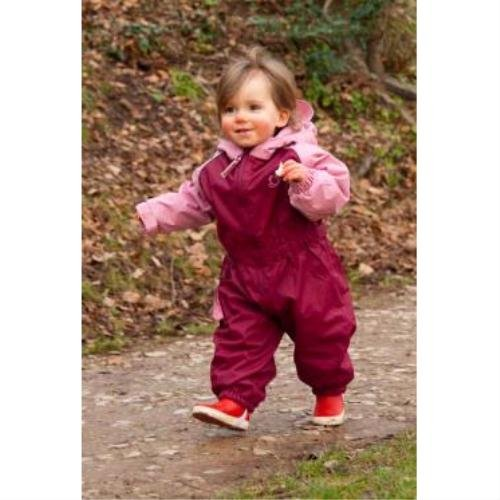 Hippychick Fleece-Lined All-In-One Waterproof Suit (3-4 years, Pink/Plum)