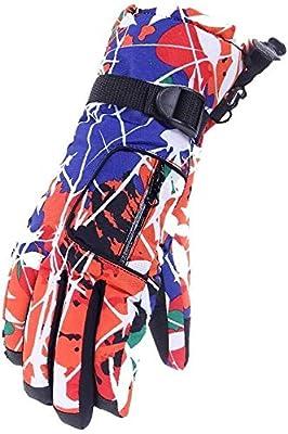 MHYNLMW Schutzhandschuhe Frau im Freien Arbeitshandschuhe Handschuhe warme Winter Plus Dicke Samt kaltes Wasser Ski Paar Motorradantriebsschlupfbaumwollhandschuhe UV Reiten