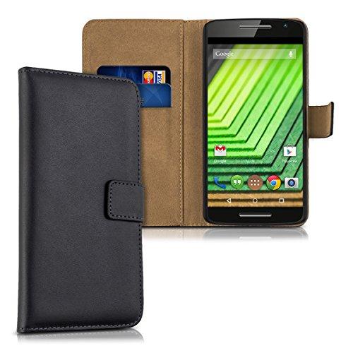 kwmobile Motorola Moto X Play Hülle - Kunstleder Wallet Case für Motorola Moto X Play mit Kartenfächern und Stand