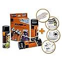Foliatec 2305 Spray Film (Sprühfolie) Satz - Schwarz glänzend 2x400ml und Versieglerspray - Klar matt 1x400ml