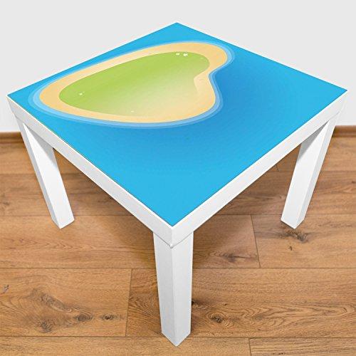 """Playmatt Spielmatte für Tisch oder Boden """"große Insel"""", schadstofffrei, rutschfest, waschbar,..."""