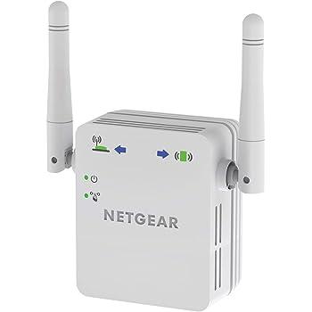 Netgear WN3000RP Amplificador de WiFi N300, repetidor de WiFi, antenas externas, 1 puerto
