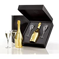v Gold Prosecco Glass Gift Pack 75cl