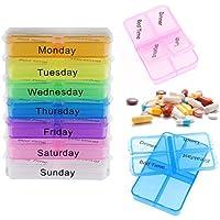 ASAB Tablettenbox für den täglichen Gebrauch, für 7 Tage oder Wochen, klar markiert, für Frühstück, Mittagessen... preisvergleich bei billige-tabletten.eu