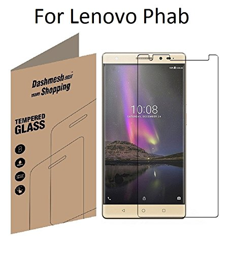 Dashmesh Shopping Tempered glass screen protector For Lenovo Phab PB1-750M (6.98')