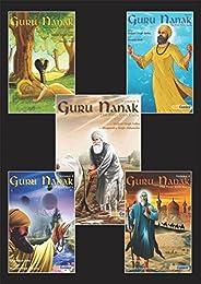 Guru Nanak - The First Sikh Guru, Set of Five Books Vol1, 2, 3, 4, 5, (Sikh Comics for Children and Adults)