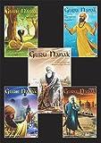 #6: Guru Nanak - The First Sikh Guru, Set of Five Books Vol1, 2, 3, 4, 5, (Sikh Comics)