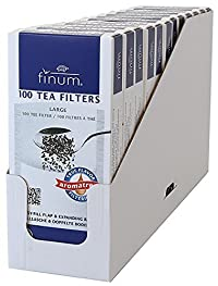 100 Paper Tea Filters, Size L (12 retail packages per tray)